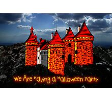 A Halloween Castle invitation to a party Photographic Print