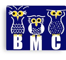 BMC Owls - Dark Blue Canvas Print