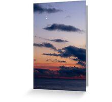 Moon Over Sea Greeting Card