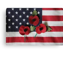 Poppies on a Flag Canvas Print