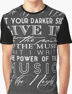 Music of the Night typography Graphic T-Shirt