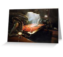 Alien vs Predator Pool Greeting Card