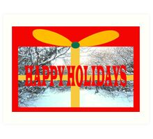 HAPPY HOLIDAYS 21 Art Print
