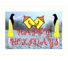 HAPPY HOLIDAYS 31 Art Print