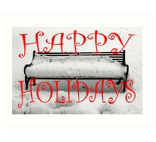 HAPPY HOLIDAYS 33 Art Print