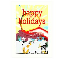 HAPPY HOLIDAYS 34 Art Print