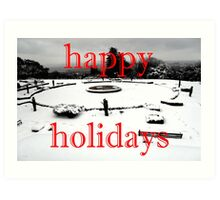 HAPPY HOLIDAYS 37 Art Print