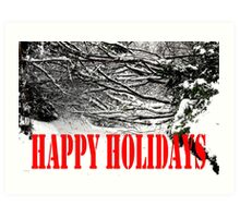HAPPY HOLIDAYS 39 Art Print