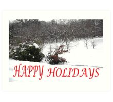 HAPPY HOLIDAYS 40 Art Print