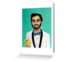 Aziz Ansari Greeting Card