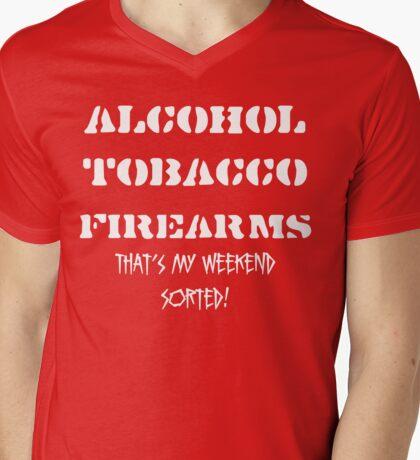 Alcohol, Tobacco & Firearms Mens V-Neck T-Shirt