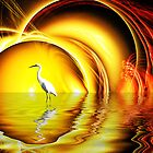 Egret's Egress by Keith Reesor