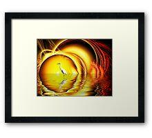 Egret's Egress Framed Print