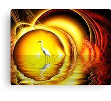 Egret's Egress Canvas Print