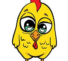 Funny yellow crazy chicken.  by -ashetana-