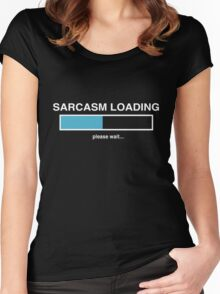 Sarcasm Loading Women's Fitted Scoop T-Shirt