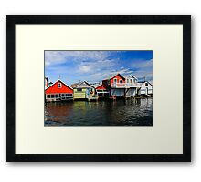 Late Summer day on the Pier Framed Print
