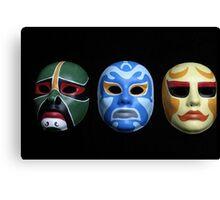 3 ninjas masks Canvas Print