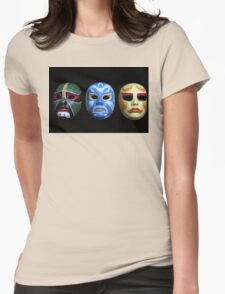 3 ninjas masks Womens Fitted T-Shirt