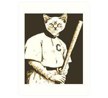 Baseball Cat Art Print
