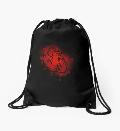 The Heart That Beats Drawstring Bag