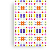 Funny pattern :D Canvas Print