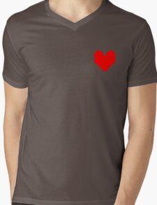 Undertale Heart Mens V-Neck T-Shirt