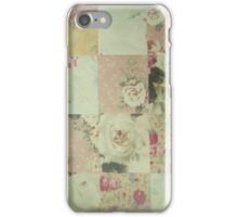 Vintage Time Worn Quilt iPhone Case/Skin