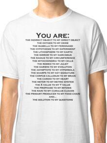 Nerdy Romantic Shirt For Guys or Girls Classic T-Shirt
