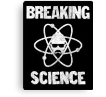 Breaking Science Canvas Print