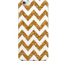 Chevron - Gold & White iPhone Case/Skin
