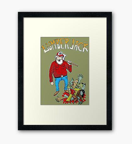 lumberjack vs zombies Framed Print