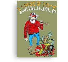 lumberjack vs zombies Canvas Print