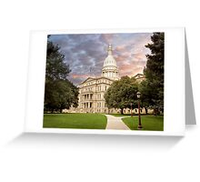 Michigan State Capital Greeting Card