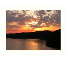 Sunrise Over Saanich Inlet Art Print