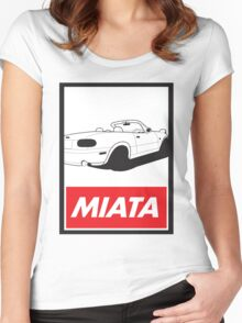 Obey Miata Women's Fitted Scoop T-Shirt
