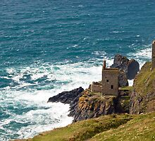 Botallack Tin Mine Workings Cornwall by Nick Jenkins
