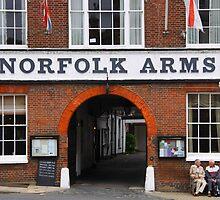 Norfolk Arms, Arundel, England by exvista