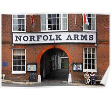 Norfolk Arms, Arundel, England Poster