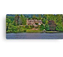 Langdale Chase Hotel, Lake Windermere Canvas Print