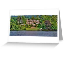 Langdale Chase Hotel, Lake Windermere Greeting Card
