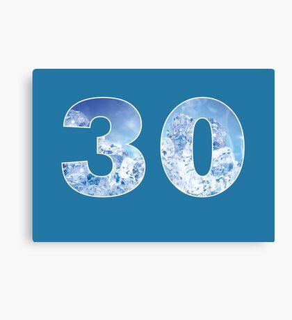 30 (Ice) Canvas Print