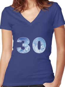 30 (Ice) Women's Fitted V-Neck T-Shirt