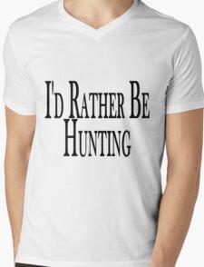 Rather Be Hunting Mens V-Neck T-Shirt