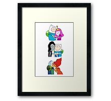 The Many Loves of Finn the Human - Adventure Time Framed Print