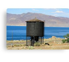 Old Water Tower at Pyramid Lake,Sutcliffe Nevada USA Canvas Print