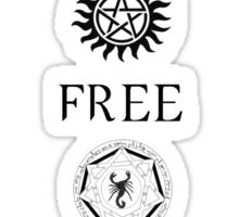 Supernatural 'TEAM FREE WILL' Sticker