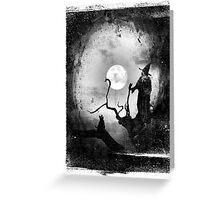 Restless dreams and cold moonbeams Greeting Card