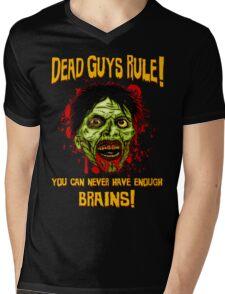 Dead Guys Rule - Brains! Mens V-Neck T-Shirt