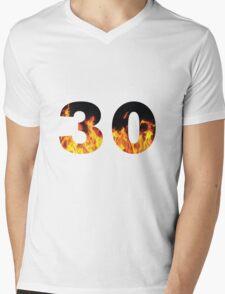 30 (Fire) Mens V-Neck T-Shirt